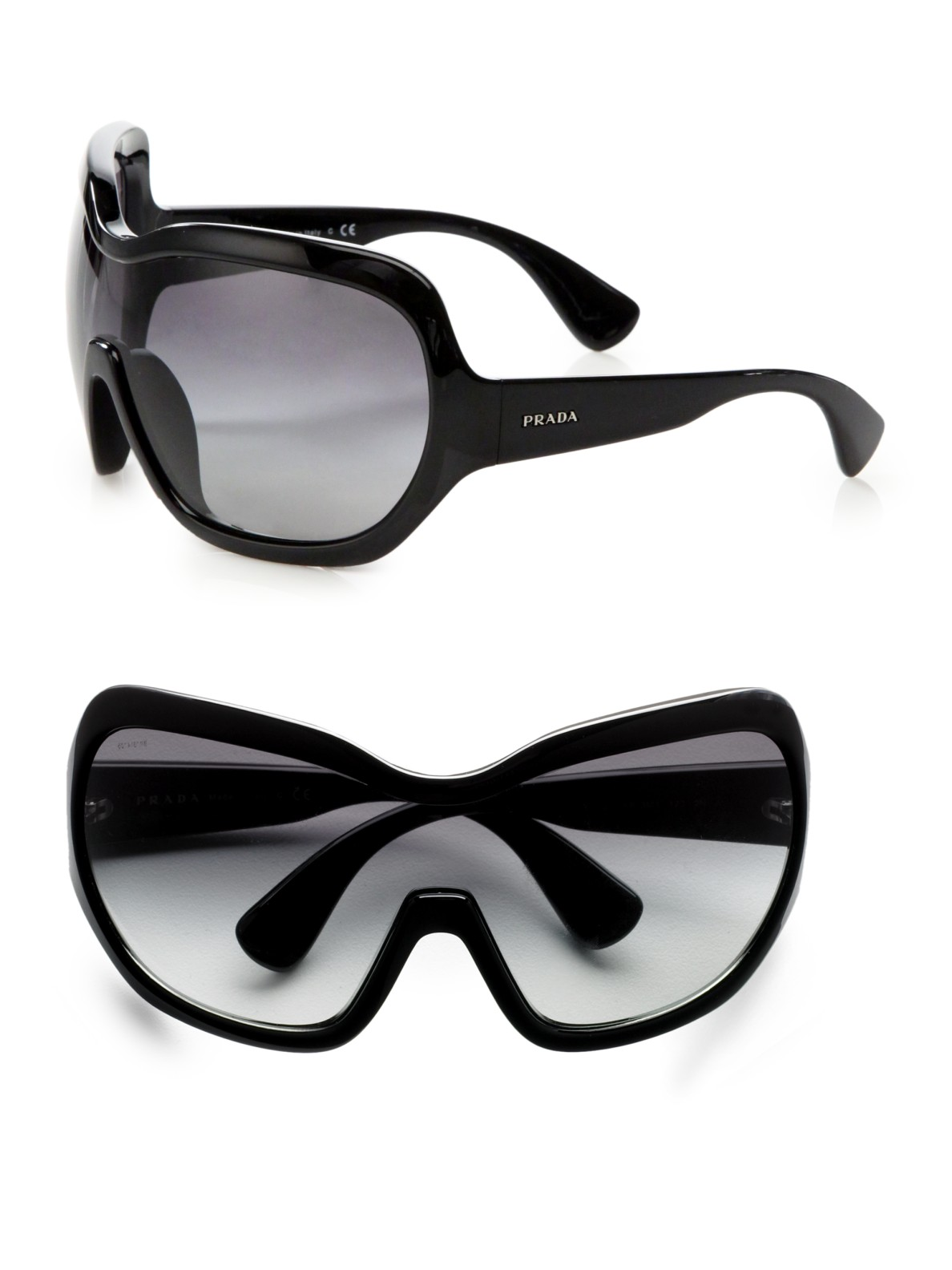 purses prada - Prada Illusion Ski Mask-inspired Sunglasses in Yellow (black) | Lyst