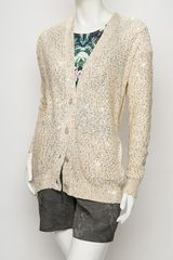 Stella Mccartney Sequin Cardigan in Beige (nude) - Lyst