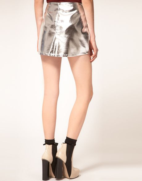 Silver Metallic Skirt 66