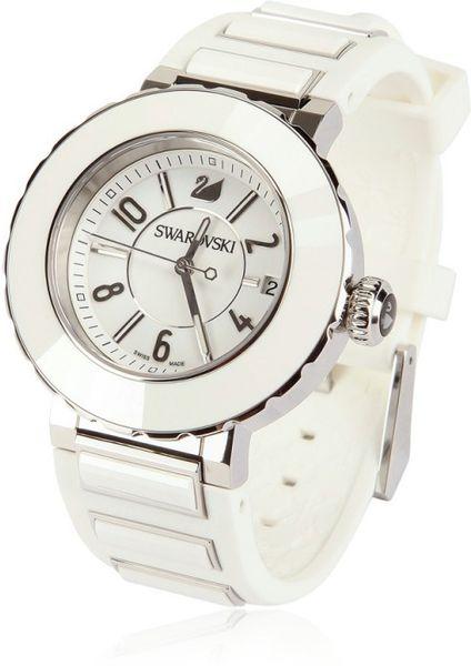 Swarovski Octea Sport Ceramic Watch In White Lyst
