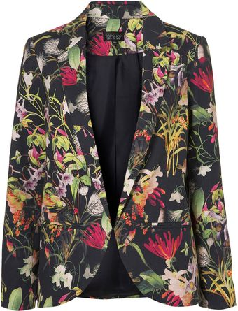 Topshop Co-ord Tropical Floral Blazer - Lyst