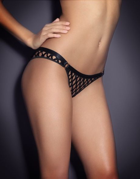 Agent Provocateur Bubbles Thong in Black - Lyst