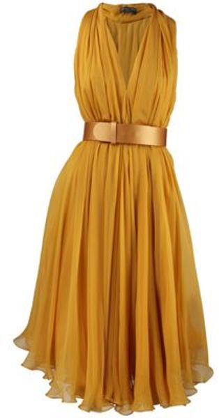 Alexander Mcqueen Alexander Mcqueen Dress in Yellow - Lyst