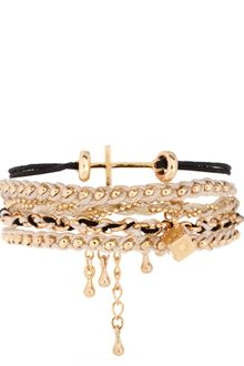 ASOS Collection Asos Monochrome Cross Friendship Bracelet Pack - Lyst