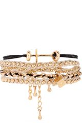 Asos Collection Asos Monochrome Cross Friendship Bracelet Pack in Multicolor (multi) - Lyst