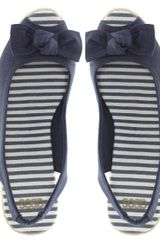 Asos Asos Hawaii Espadrille Slingback Wedge in Blue (navy) - Lyst