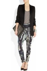 Balmain Printed Satinjersey Harem Pants in Black (multicolored) - Lyst