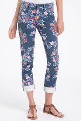 Citizens Of Humanity Mandy High Waist Slim Leg Floral Print Jeans in Blue (navy petite rose) - Lyst