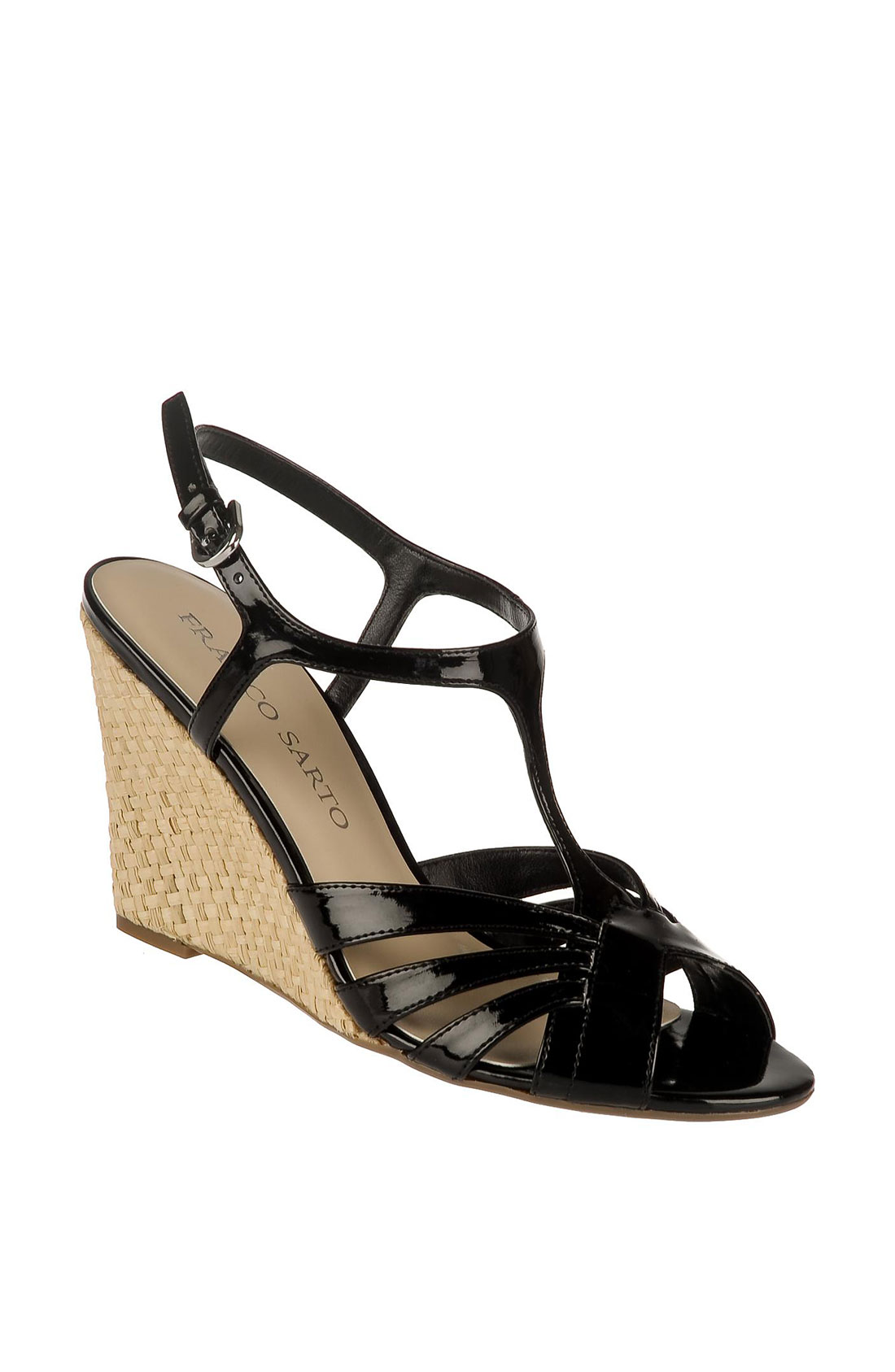 Sarto Franco Black Wedge Shoe