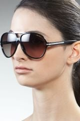 Jimmy Choo Luisa Aviator Sunglasses, Black - Lyst