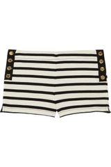 Juicy Couture Striped Cotton-jersey Shorts - Lyst