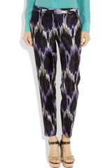 Michael by Michael Kors Ikat-print Silk-blend Pants - Lyst