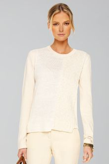 Michael Kors Patchwork-knit Sweater - Lyst