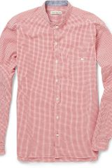 Oliver Spencer Granddad Collar Seersucker Shirt - Lyst