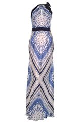 Philosophy di Alberta Ferretti Printed Satin-twill Maxi Dress - Lyst