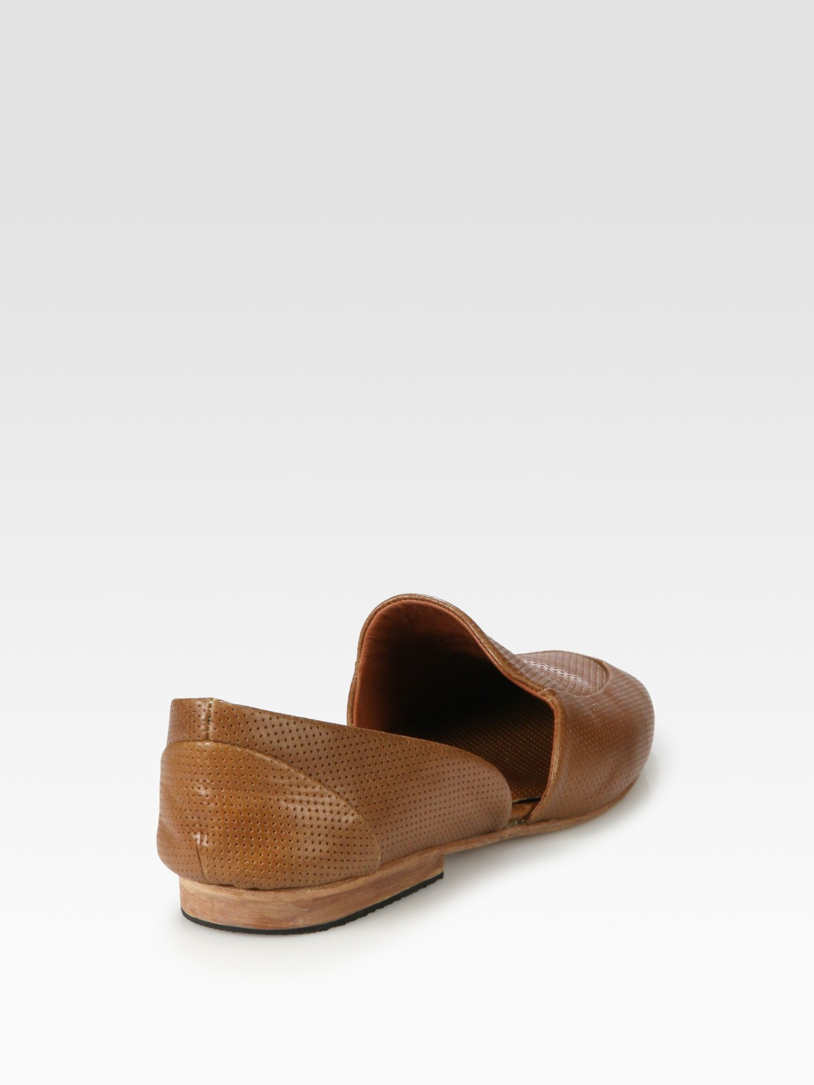 9cb1de315a4 Lyst - Rachel Comey Boyfer Leather Cut-out Penny Loafers in Brown