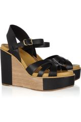 See By Chloé Leather Wedge Sandals - Lyst