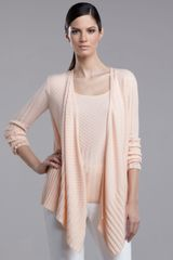 St. John Collection Ribbed-knit Cashmere Cardigan - Lyst