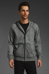 T By Alexander Wang Terry Zip Up Hoodie - Lyst