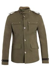 Valentino CottonLinen Jacket in Khaki for Men - Lyst
