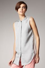 3.1 Phillip Lim Sleeveless Pinstripe Blouse - Lyst