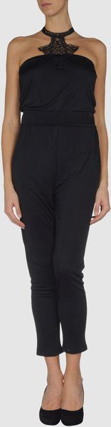 Amen Trouser Dungaree in Black - Lyst