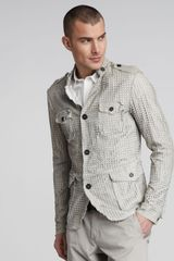 Dolce & Gabbana Perforated Leather Safari Jacket - Lyst
