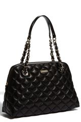 Kate Spade Gold Coast  Georgina Quilted Metallic Shopper in Black - Lyst