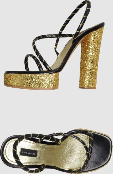 Marc Jacobs Platform Sandals in Gold - Lyst