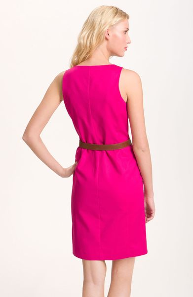 Michael Michael Kors Zip Front Sleeveless Dress In Pink