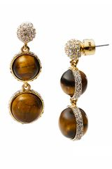 Michael by Michael Kors Michael Kors Sleek Exotics Double Drop Slice Earrings - Lyst