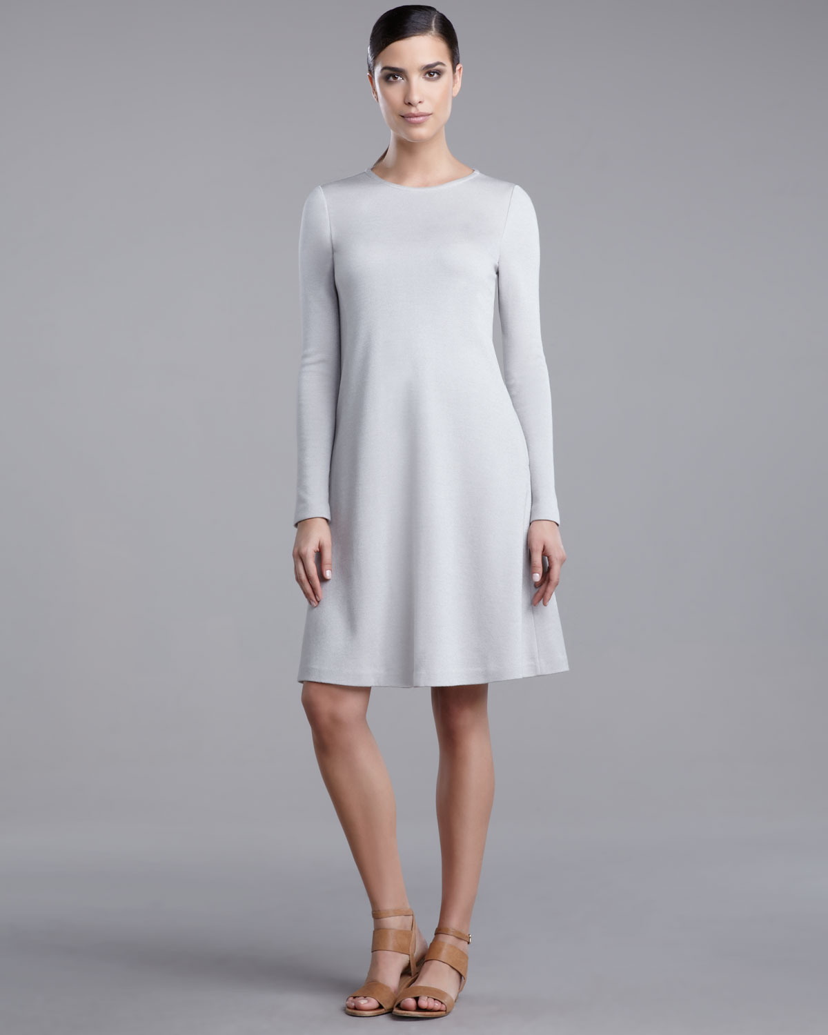 fd8f79ad0 St. John Milano Trapeze Dress in White - Lyst