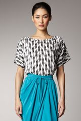 Thakoon Addition Geometric-print Oversize Tee - Lyst