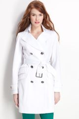 Vince Camuto Double Breasted Trench Coat - Lyst
