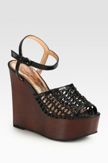 Marc By Marc Jacobs Woven Leather Wedge Sandals - Lyst