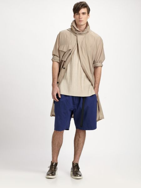 3.1 Phillip Lim Convertible Silk Anorak in Khaki for Men - Lyst