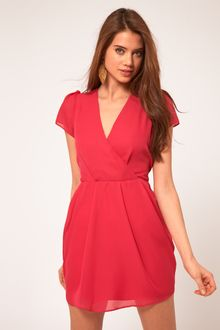 ASOS Collection Asos Tulip Dress with V Neck - Lyst