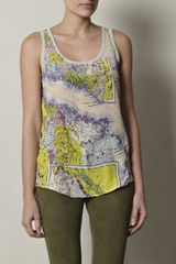 Carven Mapprint Tank Top in Blue - Lyst