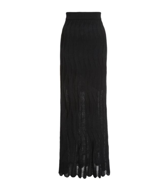 M missoni Knitted Maxi Skirt in Black | Lyst