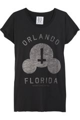 Zoe Karssen Orlando Florida Cotton and Modal-blend T-shirt - Lyst