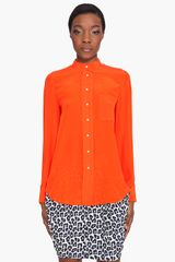 3.1 Phillip Lim Poppy Blouse in Orange (poppy) - Lyst