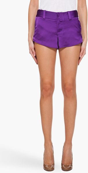 Alice + Olivia Purple Butterfly Shorts - Lyst