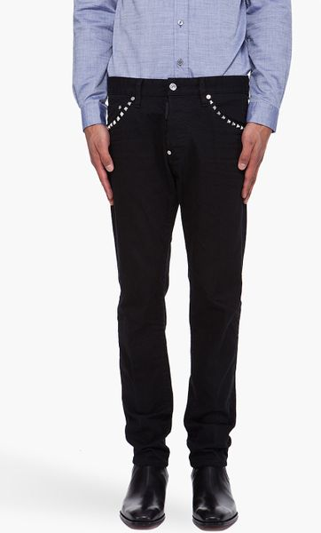 Dsquared² Studded Cool Guy Jeans in Black for Men | Lyst