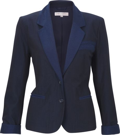 French Connection Rebecca Sharp Jacket in Blue (indigo) - Lyst