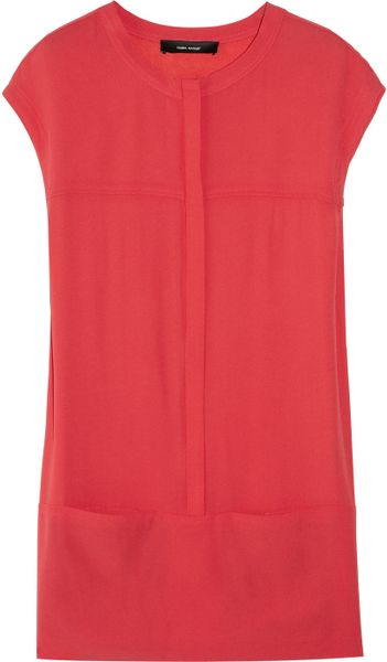 Isabel Marant Octave Crepe Mini Dress in Red - Lyst