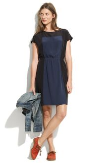 Madewell Pintucked Panel Dress - Lyst