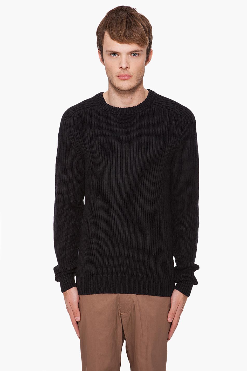 marc by marc jacobs black igor sweater in black for men lyst. Black Bedroom Furniture Sets. Home Design Ideas