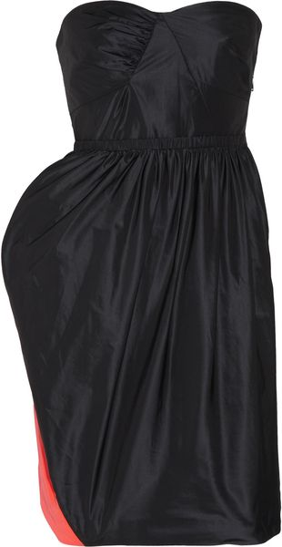 Marc By Marc Jacobs Ellsworth Taffeta Strapless Dress - Lyst