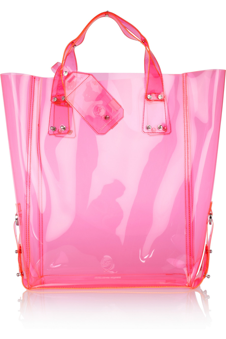Lyst Mcq Kingsland Vinyl Tote In Pink