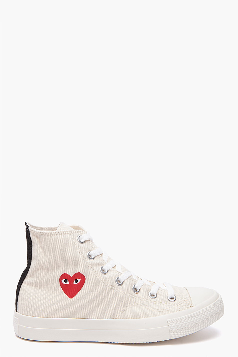 play comme des gar ons converse red heart sneakers in. Black Bedroom Furniture Sets. Home Design Ideas